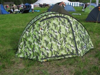 For somewhat convoluted reasons, this tent was known as 'The Sandal'.